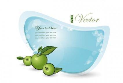 free vector Blue and green dialog 05 vector