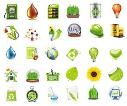 free vector Green Detailed Vector Icons