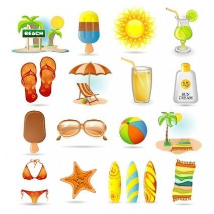 free vector Summer Vector Icons