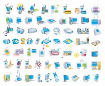 free vector Digital Technology Icons