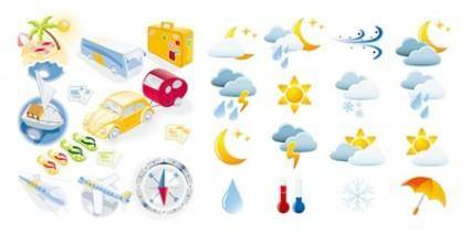 Vector Weather & Travel Icons