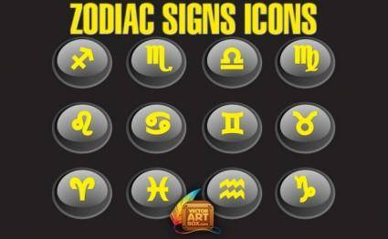 free vector Zodiac Signs Icons