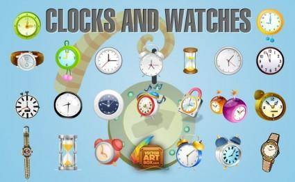 free vector Clocks and Watches Icon Set
