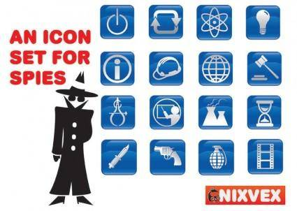 free vector NixVex Icons for Spies Free Vectors