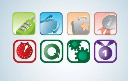 free vector Two by Four Icon Set