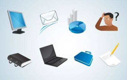 Various Office Vector Icons