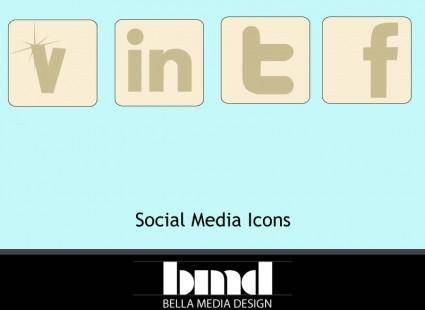 free vector Muted Social Media icons including Vecteezy