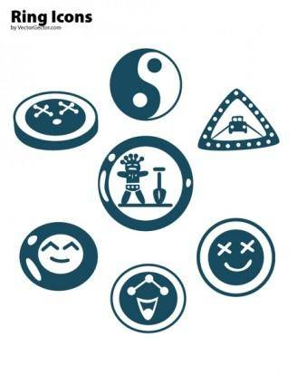 free vector Free Vector Ring Icons