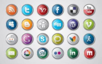free vector Social Media Icon Pack