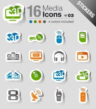free vector The exquisite electronic products stickers 03 vector
