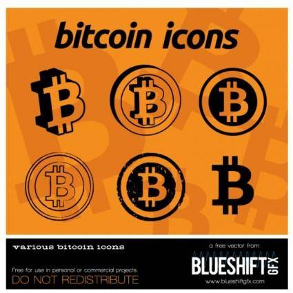 free vector Bitcoin Vector Icons