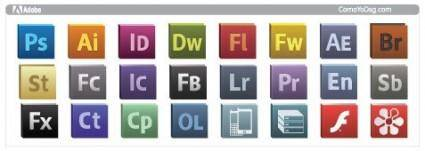 free vector Adobe CS5 logo icons