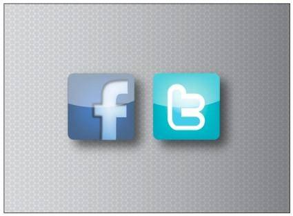 free vector Facebook and Twitter Icons
