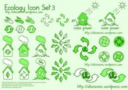 free vector Ecology Icon Set 3