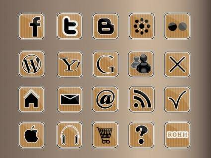 free vector Kraft icons