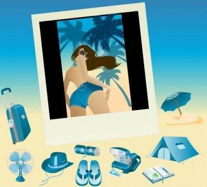 Blue Vector Summer Vista Icons