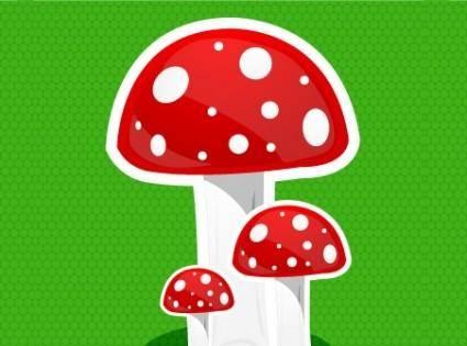 free vector Mushroom icon