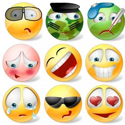 free vector Vector Emoticons Icons