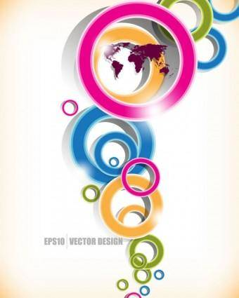 Brilliant colored circles 01 vector