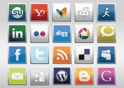 free vector Free Social Media Vector Icons