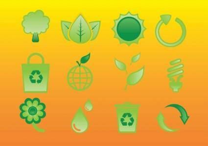 free vector Glossy Nature Icons