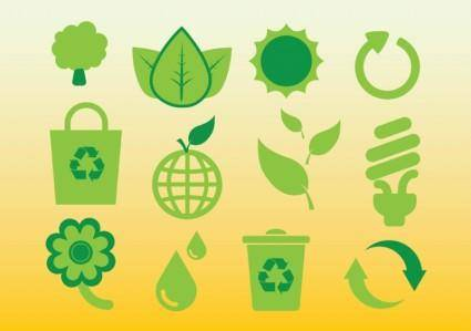 free vector Ecology Icons