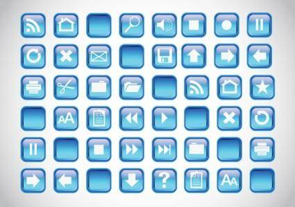 free vector Blue Icons Buttons