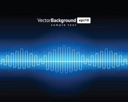 free vector Dynamic audio waves 01 vector