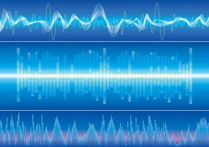 Dynamic audio waves 03 vector