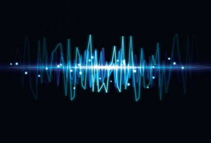 Dynamic audio waves 04 vector