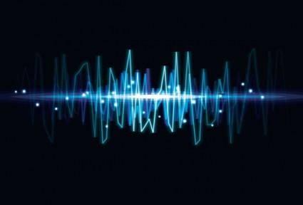 Dynamic audio waves 04 vector