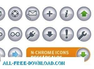 free vector N Chrome Icons