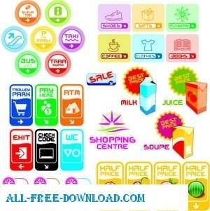 free vector Various Icons shape and colors