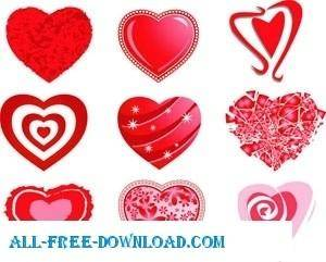 free vector Heart Vector Pack