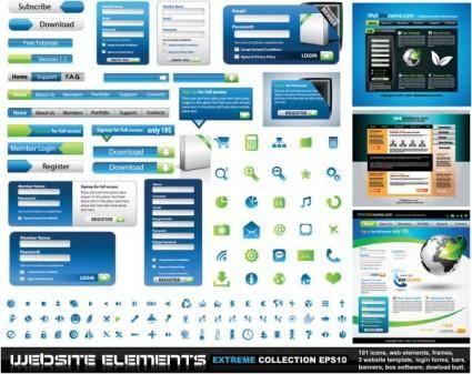 free vector Web design elements 01 vector