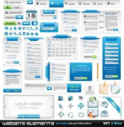 free vector Web design elements 02 vector