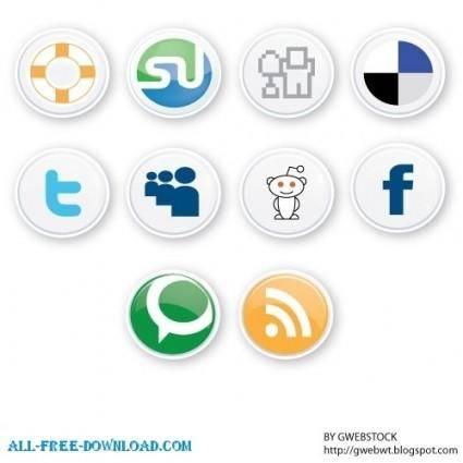 free vector Social button