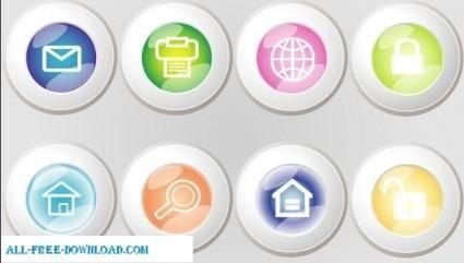 free vector Web button