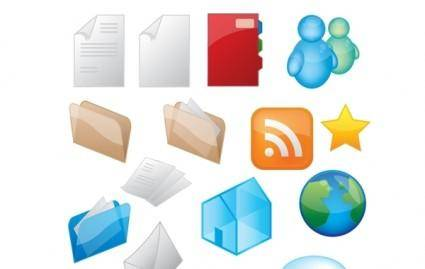 free vector Glossy Icon Style Vector Graphics