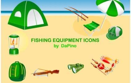 free vector Fishing Equipment Icons