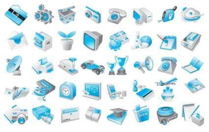 free vector Free Vector Blue Icons