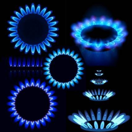free vector Blue flame vector