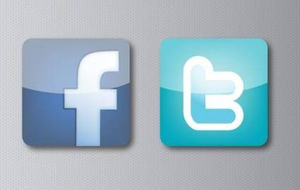 Facebook and Twitter Icons