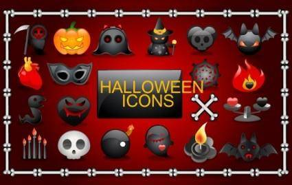 free vector Vector Halloween icons