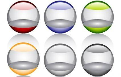 free vector Free Glossy orbs Vector Icon