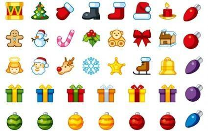 free vector Christmas Holiday Icons