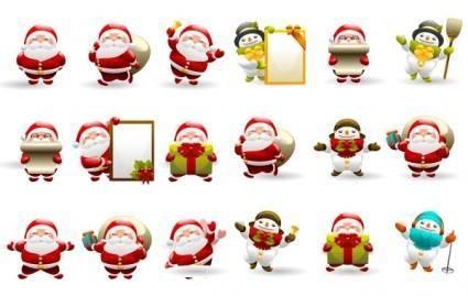 free vector Christmas Santa Icon Set