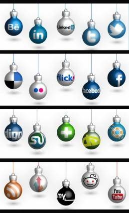 free vector Free Christmas Social Icons