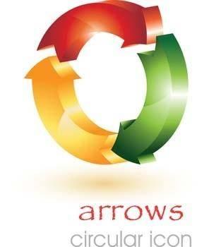 3d circular arrow vector icons, 3d arrow vector, arrow vector ai, arrow vector illustrator