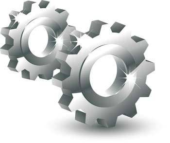 3d gear vector mechanical element icon, 3d vector icons. mechanical vector, gear vector ai adobe illustrator